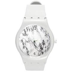 Marble Pattern Round Plastic Sport Watch (m)