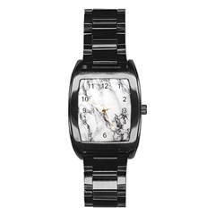 Marble Pattern Stainless Steel Barrel Watch