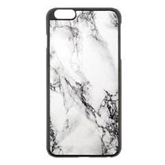 Marble Pattern Apple Iphone 6 Plus/6s Plus Black Enamel Case