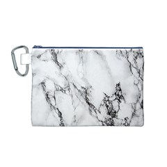 Marble Pattern Canvas Cosmetic Bag (m)