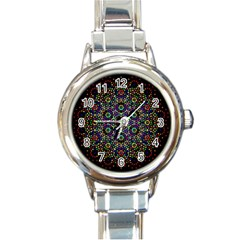 The Flower Of Life Round Italian Charm Watch