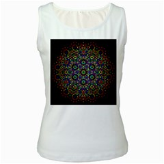 The Flower Of Life Women s White Tank Top
