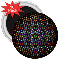 The Flower Of Life 3  Magnets (10 Pack)