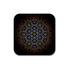 The Flower Of Life Rubber Coaster (square)
