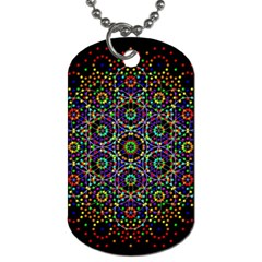 The Flower Of Life Dog Tag (one Side)