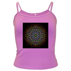 The Flower Of Life Dark Spaghetti Tank