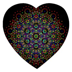 The Flower Of Life Jigsaw Puzzle (heart)