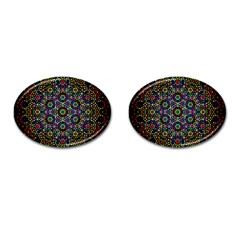 The Flower Of Life Cufflinks (oval)