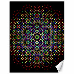 The Flower Of Life Canvas 18  X 24