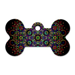 The Flower Of Life Dog Tag Bone (two Sides)