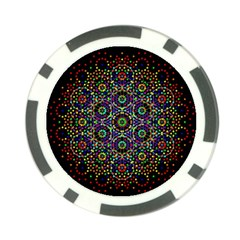 The Flower Of Life Poker Chip Card Guard