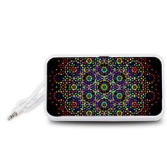 The Flower Of Life Portable Speaker (white)