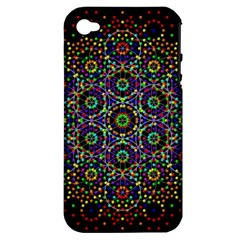 The Flower Of Life Apple Iphone 4/4s Hardshell Case (pc+silicone)