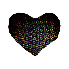 The Flower Of Life Standard 16  Premium Heart Shape Cushions