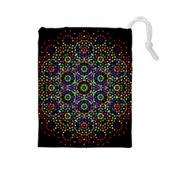 The Flower Of Life Drawstring Pouches (large)