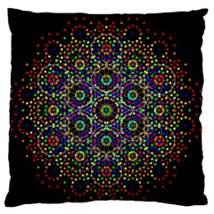 The Flower Of Life Standard Flano Cushion Case (one Side)
