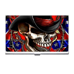 Confederate Flag Usa America United States Csa Civil War Rebel Dixie Military Poster Skull Business Card Holders