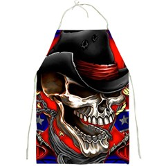 Confederate Flag Usa America United States Csa Civil War Rebel Dixie Military Poster Skull Full Print Aprons