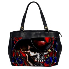 Confederate Flag Usa America United States Csa Civil War Rebel Dixie Military Poster Skull Office Handbags