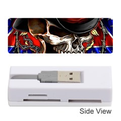 Confederate Flag Usa America United States Csa Civil War Rebel Dixie Military Poster Skull Memory Card Reader (stick)