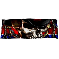 Confederate Flag Usa America United States Csa Civil War Rebel Dixie Military Poster Skull Body Pillow Case Dakimakura (two Sides)
