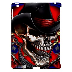 Confederate Flag Usa America United States Csa Civil War Rebel Dixie Military Poster Skull Apple Ipad 3/4 Hardshell Case (compatible With Smart Cover)