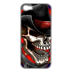Confederate Flag Usa America United States Csa Civil War Rebel Dixie Military Poster Skull Apple Iphone 5 Case (silver)
