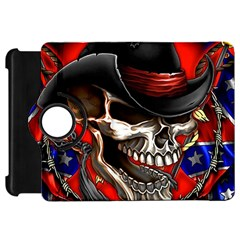 Confederate Flag Usa America United States Csa Civil War Rebel Dixie Military Poster Skull Kindle Fire Hd 7