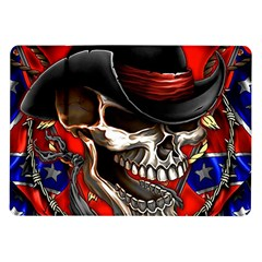 Confederate Flag Usa America United States Csa Civil War Rebel Dixie Military Poster Skull Samsung Galaxy Tab 10 1  P7500 Flip Case
