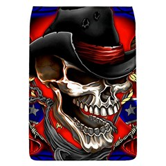 Confederate Flag Usa America United States Csa Civil War Rebel Dixie Military Poster Skull Flap Covers (l)