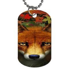 Fox Dog Tag (two Sides)