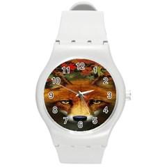 Fox Round Plastic Sport Watch (m)
