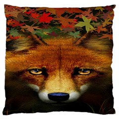 Fox Large Flano Cushion Case (two Sides)