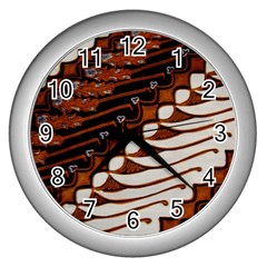 Traditional Batik Sarong Wall Clocks (silver)