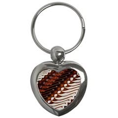 Traditional Batik Sarong Key Chains (heart)