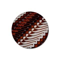 Traditional Batik Sarong Rubber Coaster (round)
