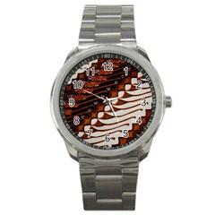Traditional Batik Sarong Sport Metal Watch