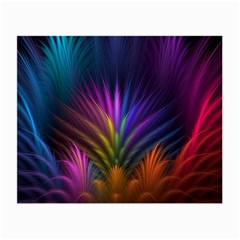 Colored Rays Symmetry Feather Art Small Glasses Cloth (2 Side)