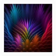 Colored Rays Symmetry Feather Art Medium Glasses Cloth