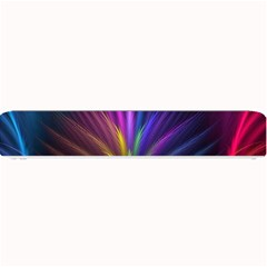 Colored Rays Symmetry Feather Art Small Bar Mats