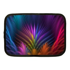 Colored Rays Symmetry Feather Art Netbook Case (medium)