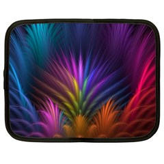 Colored Rays Symmetry Feather Art Netbook Case (xxl)