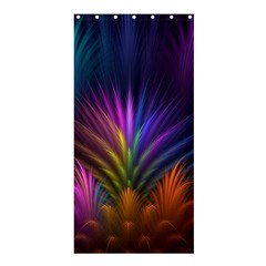 Colored Rays Symmetry Feather Art Shower Curtain 36  X 72  (stall)