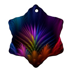 Colored Rays Symmetry Feather Art Ornament (snowflake)