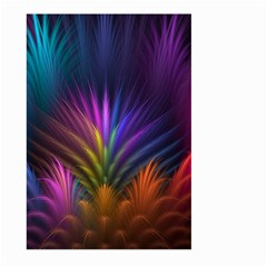 Colored Rays Symmetry Feather Art Large Garden Flag (two Sides)