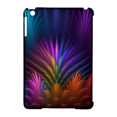 Colored Rays Symmetry Feather Art Apple Ipad Mini Hardshell Case (compatible With Smart Cover)