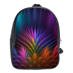 Colored Rays Symmetry Feather Art School Bags (xl)