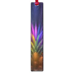 Colored Rays Symmetry Feather Art Large Book Marks