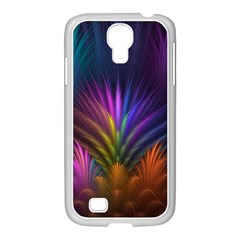 Colored Rays Symmetry Feather Art Samsung Galaxy S4 I9500/ I9505 Case (white)