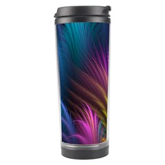 Colored Rays Symmetry Feather Art Travel Tumbler